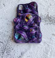 Creative Color Contrast Cream Glue Phone Case