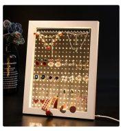 Wood Jewelry Rack Earrings Holder Stand Acrylic Sheet Earring Hanging Frame Eardrop Table Earring Bracket