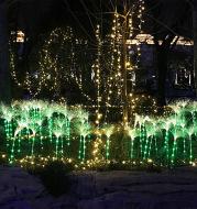 Solar Fiber Optic Reed Light Outdoor Rainproof Lawn Decorative Light