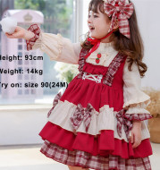 Children's Retro Long-sleeved Palace Dress