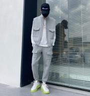 Men's Tooling Space Cotton Casual Vest Suit
