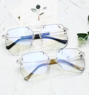 Anti-blue Glasses Rimless Flat Glasses Men