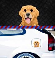 Dog Shar Pei Dachshund Pet Glass Sticker Car Scratch Cover Sticker