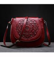 Retro Head Leather Shoulder Bag Slant Across Women's Bag Women's Leather