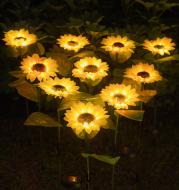LED Solar Sunflower Lamps Solar Light Decorative Lights Outdoor Garden Lawn Lamp Patio Porch Backyard Garden Decoration
