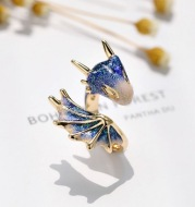Design Index Finger Ring Starry Sky Blue Dragon  Ring Female