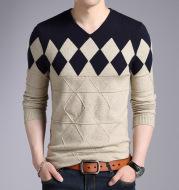 Men's Pullover Sweater Korean Knit Bottoming Shirt