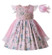 Vintage Floral Dresses Fly Sleeve