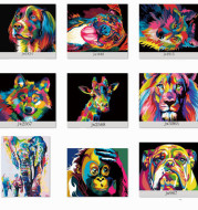 Manufacturer Self-sold Diy Digital Oil Painting Custom Painting Cross-border Combo Box Frameless 40x50cm Amazon