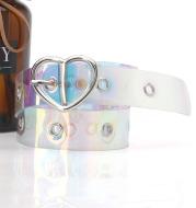 Explosive Pvc Transparent Colorful Eye Belt, Trendy All-Match Women'S Decorative Belt