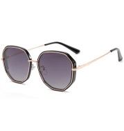 Ladies Polarized Sunglasses Two-Tone Fashion Polygon