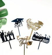 Acrylic Graduation Season Cake Decoration Insert