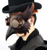 Steampunk Medieval Plague Beak Mask