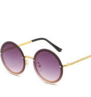 Metal Chain European And American Hot Style Sunglasses Frameless Can Be Equipped With Chain