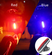 USB Rechargeable Bicycle Riding COB Tail Light Mountain Bike Bicycle LED Safety Warning Light Flashing Rear Light