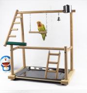 Bird Stand Stand Desktop Training Cockatiel Playground Bird Toy Swing Climbing Ladder Bird Gear Supplies