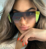 Rimless Personalized One-piece Sunglasses