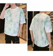 Loose Half-sleeved Tie-dye Body Tucked Clothes Ins Super Fire Short Sleeves