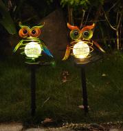 Solar Owl Lawn Lamp Outdoor Waterproof LED Garden Pathway Lighting Night Light Energy Saving Landscape Decor