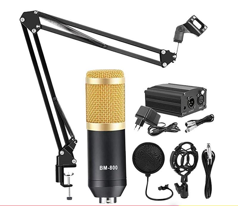 BM-800 Microphone Recording Condenser Microphone Set
