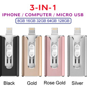 Suitable For Android Computer Three-in-one Metal USB Flash Drive