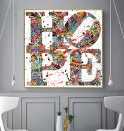 Animal Flower Digital Frameless Oil Painting