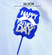 Father's Day Cake Decoration Dad Birthday Decoration Accessories Dad Double Acrylic Insert Letter Baking Decoration
