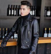 Leather Jacket Motorcycle Leather Men's Korean Sheepskin