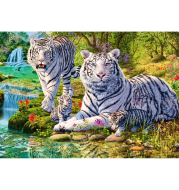 New Needlework Diamond Painting Mosaic Tiger Family & Beautiful Forest Diamond Embroidery With Home Decoration KBL