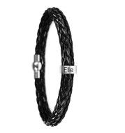 Personalized Mens Braided Genuine Leather Bracelet
