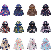 Spring And Autumn Thin Hooded Baby Cute Zipper Sweater Children's Jacket