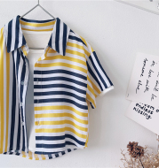 Boys' Summer Children'S Short-Sleeved Shirts And Children'S Tops