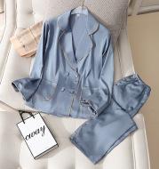 Multi-color Optional Home Comfort Ladies Suit Thin Ice Silk