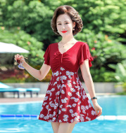 Mother's Swimsuit Middle-aged And Elderly Slimming Cover Belly One-piece Swimsuit
