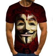 Short Sleeve Men's 3d Digital Printing T-shirt