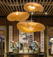 Bamboo Chandelier Chinese Zen Tea Room Lamp