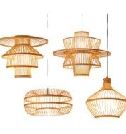 Chinese Bamboo Retro Hanging Light Fixtures Wicker Pendant  Light