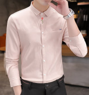 Striped Men's Long-sleeved Shirt, Handsome, Casual And Versatile