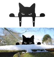 Black Cat Fence Outdoor Garden Decoration