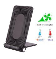 Qi Wireless Charger with Cooling Fan Fast Charging Pad For i