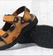 Outdoor Leisure Men's Leather Sandals High Quality Shoe