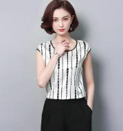 Printed Temperament Chiffon Shirt Sleeveless Top Floral Small Shirt
