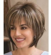 Women's Fashion Wig With Chemical Fiber Headgear