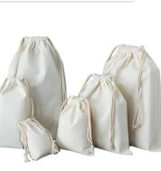 Blank Drawstring Drawstring Canvas Bag Canvas Storage Bag
