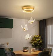 Living Room Loft Personality Dining Room Revolving Duplex Chandelier