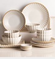 Nordic ceramic dishes dishes home dishes creative network red style steak Western plate breakfast tableware Qiong Yi