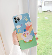 Apple 11Pro Embroidery Rainbow Duck Xr Mobile Phone Case Iphonexs Max All Inclusive 7 8plus Soft Case