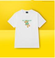 Ins Summer High Street Harajuku Cow Love Print Loose Short Sleeves