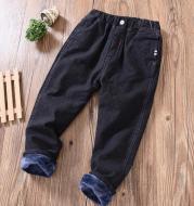 Boys' Casual Pants Korean Winter Long Pants, Big Kids Plus Cashmere Pants Trend