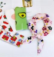 Refreshing Floral All-match Small Silk Scarf Female Print Headscarf